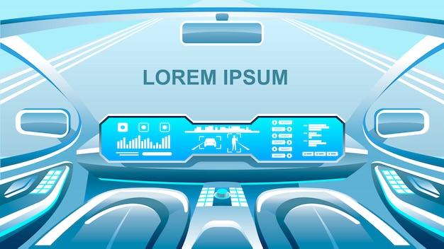 Banner future technologies Vettore Premium