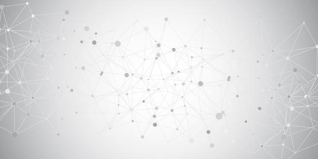 Banner geometrico con linee e punti di collegamento design Vettore gratuito
