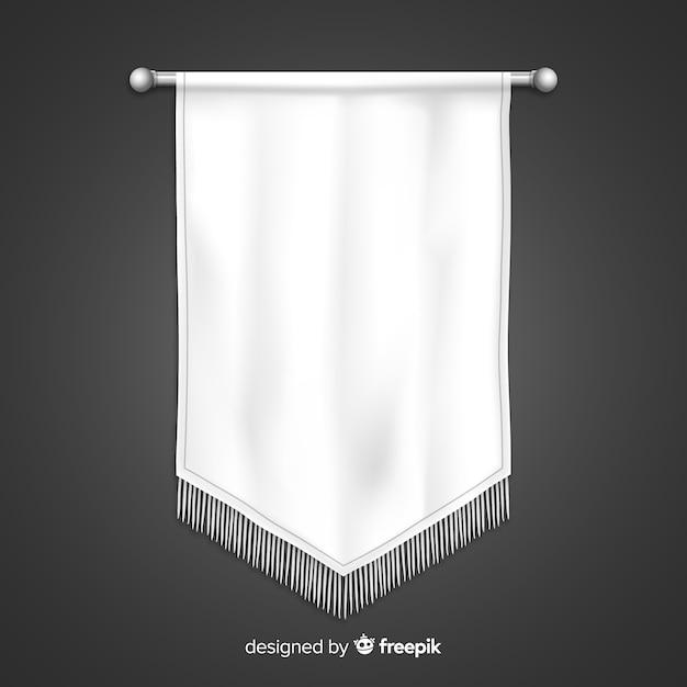 Banner in tessuto bianco Vettore gratuito