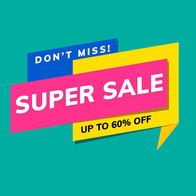 Banner in vendita super Vettore gratuito