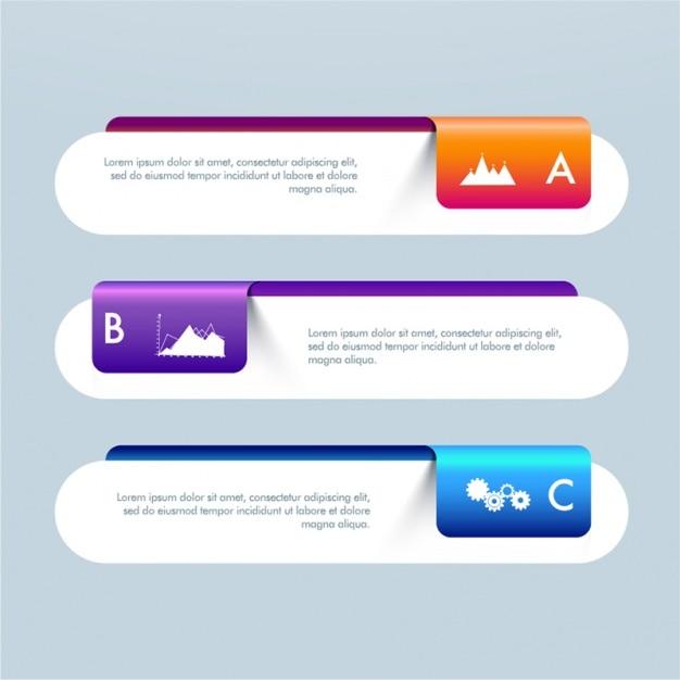 Banner infographic geometriche per le imprese Vettore Premium