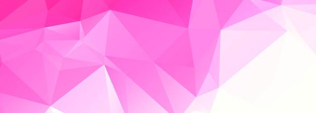 Banner moderno poligono rosa Vettore gratuito