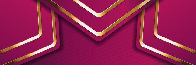 Banner oro di lusso dorato sfondo di colore chiaro sullo sfondo Vettore Premium