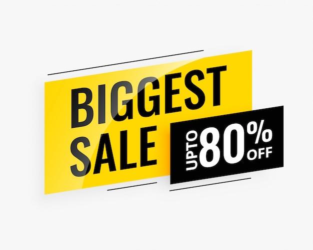 Banner promozionale di vendita più grande Vettore gratuito