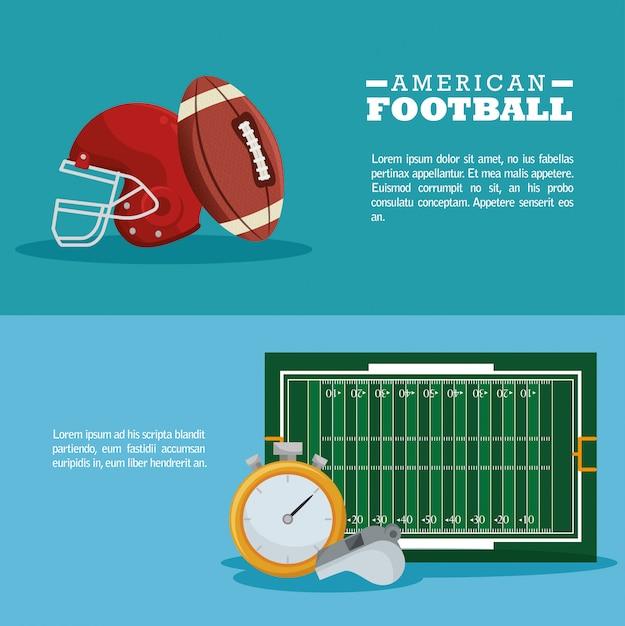 Banner sport football americano Vettore gratuito