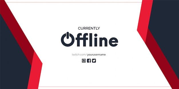 Banner twitch attualmente offline Vettore gratuito