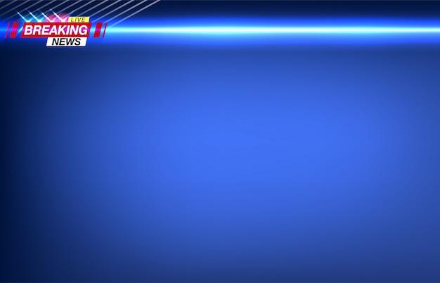 Banner ultime notizie, notizie importanti, titolo sotto forma di luci lampeggianti della polizia. immagine. Vettore Premium