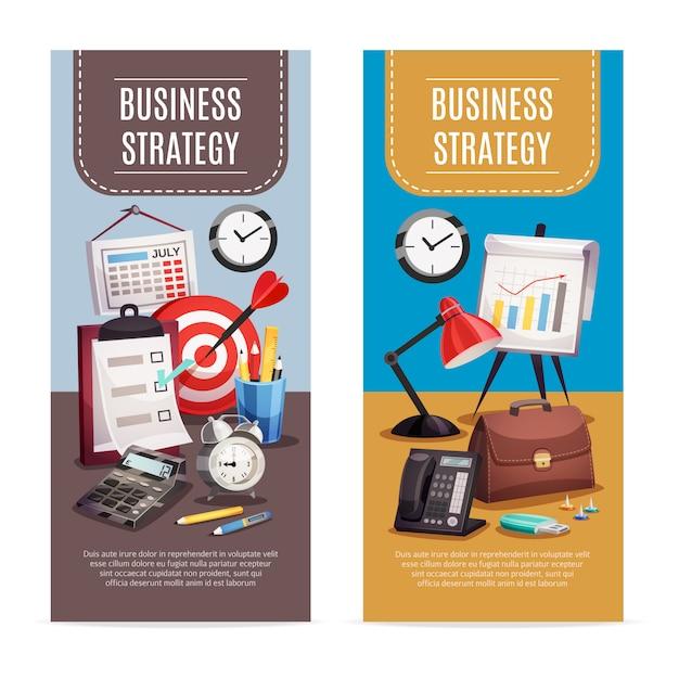 Banner verticale business office 2 Vettore gratuito