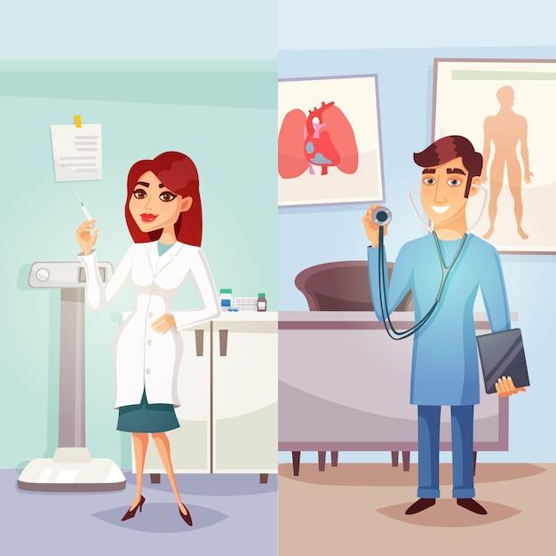 Banner verticale di medicina dei cartoni animati Vettore gratuito