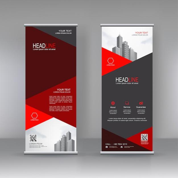 Banner verticale stand design del modello Vettore Premium