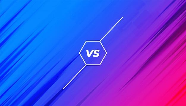 Banner vibrante contro vs per la sfida della concorrenza Vettore gratuito