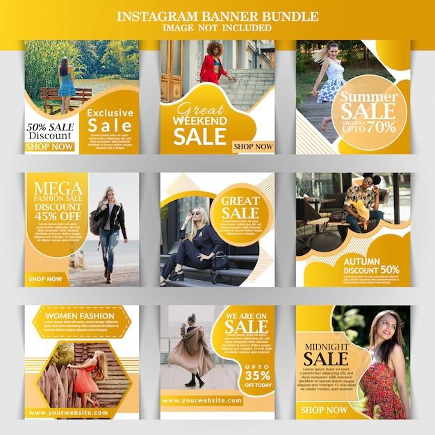 Banner web di moda per i social media Vettore Premium