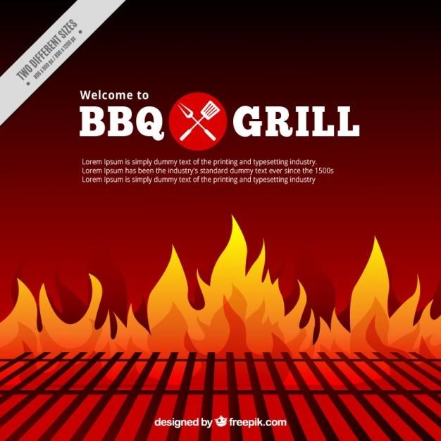 Barbecue e griglia di sfondo Vettore gratuito