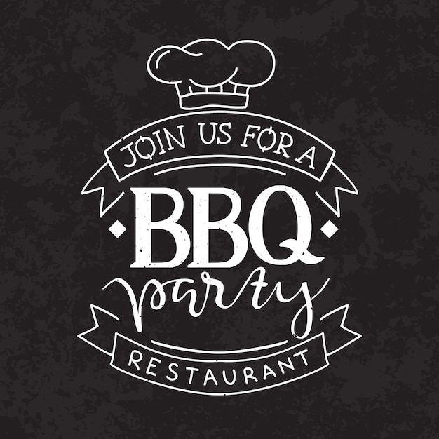 Barbecue party poster. Vettore gratuito