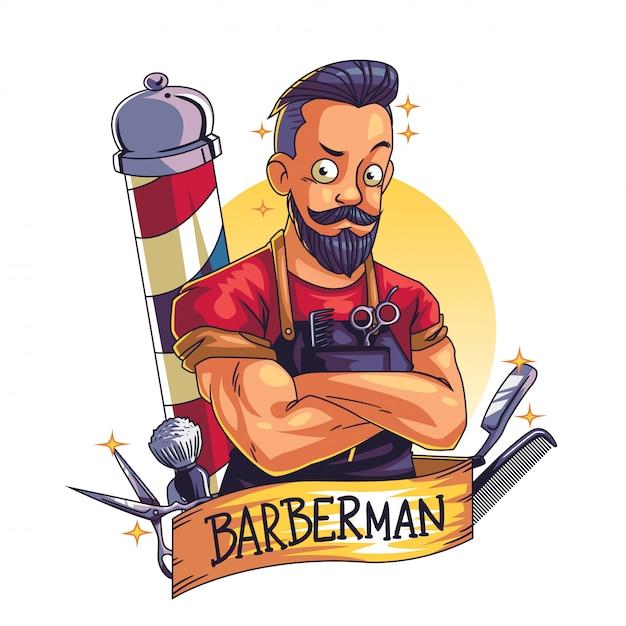 Barbiere Vettore Premium