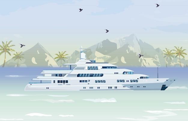 Barca da viaggio Vettore Premium