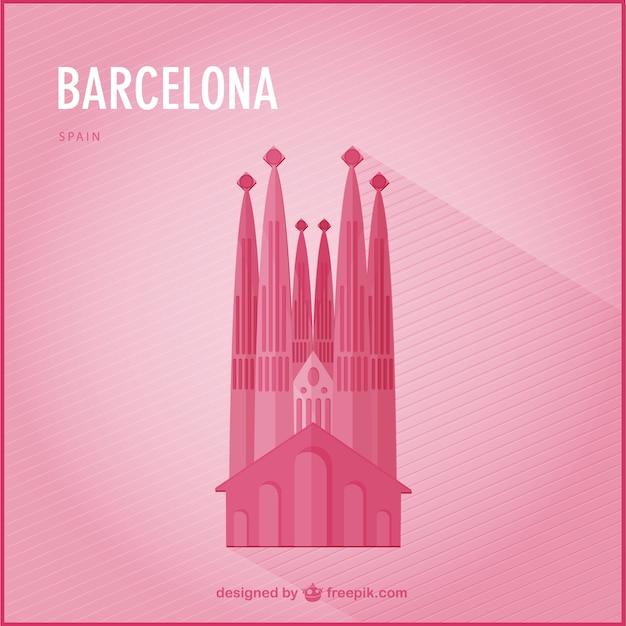 Barcelona punto di riferimento vettore Vettore gratuito