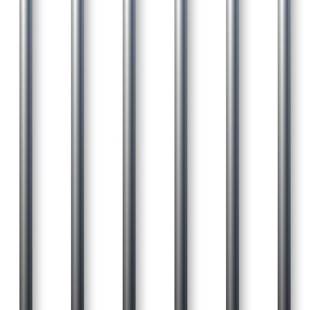 Barre della cella di prigione Vettore Premium