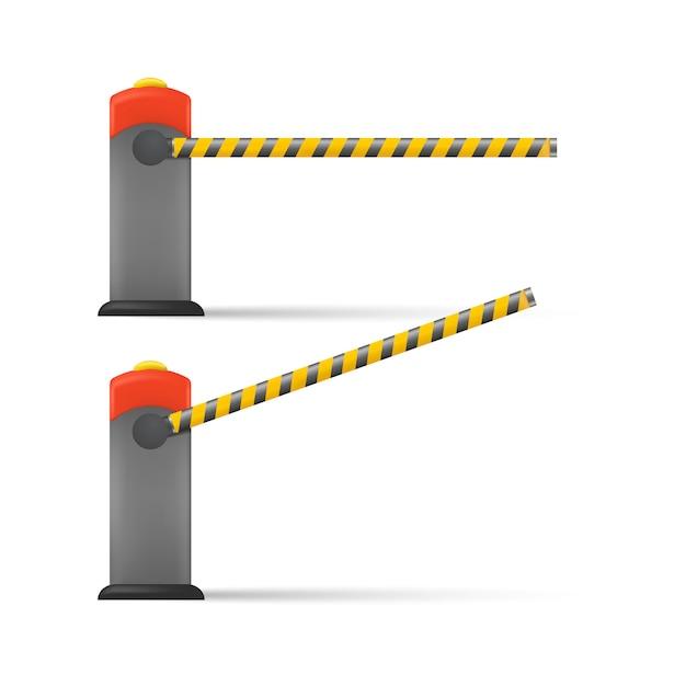Barriera auto a strisce Vettore Premium
