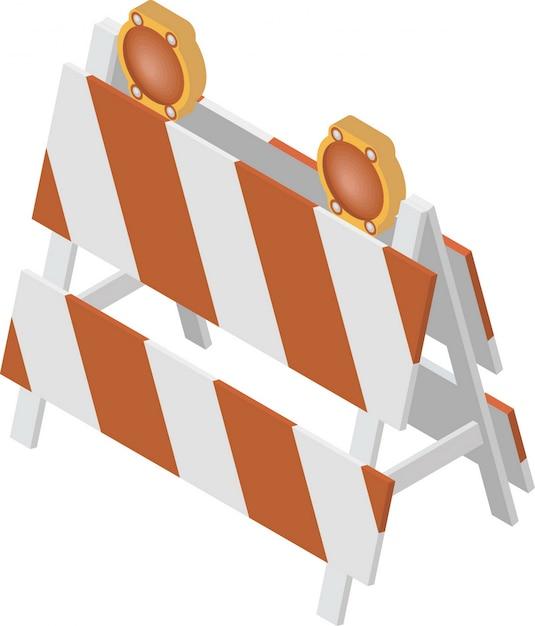 Barriera in costruzione Vettore Premium