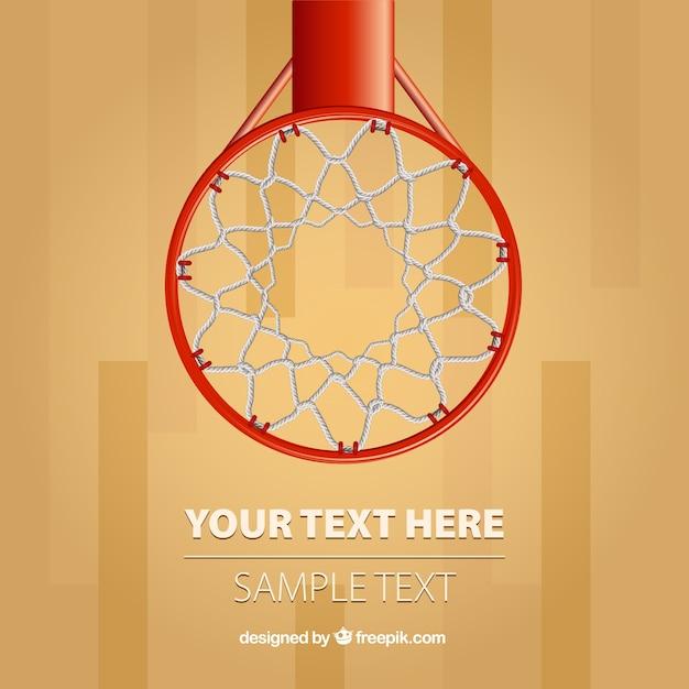 Basket cerchio sfondo vettoriale Vettore gratuito