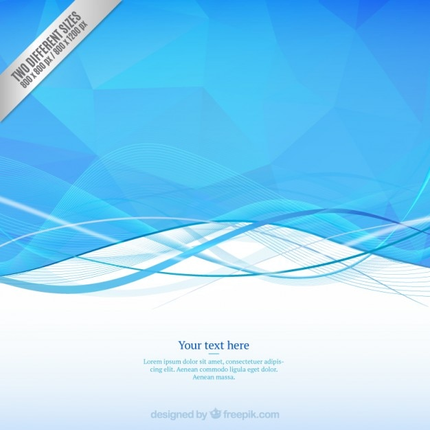 Bassa ondulata nei toni del blu Vettore gratuito