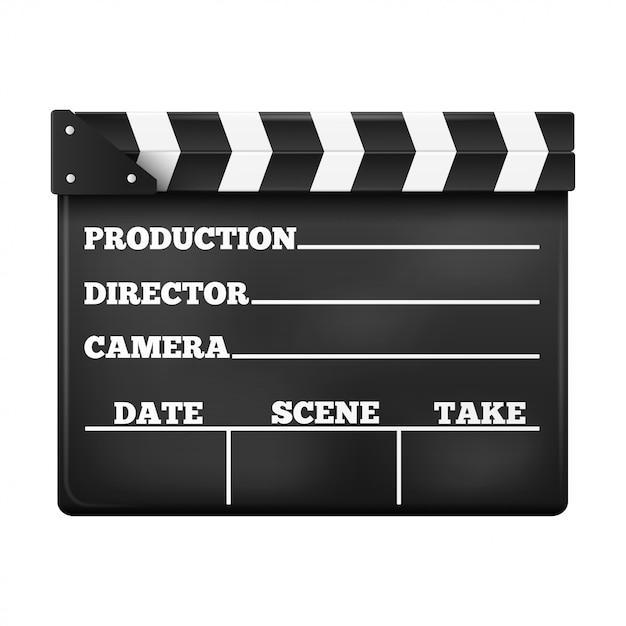 Batacchio cinema. Vettore Premium