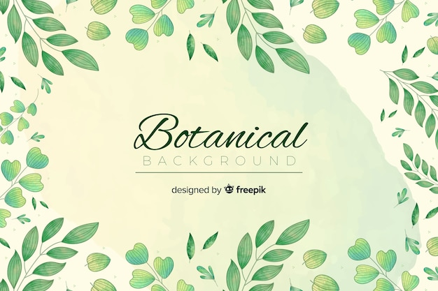 Bckground botanico d'epoca Vettore gratuito