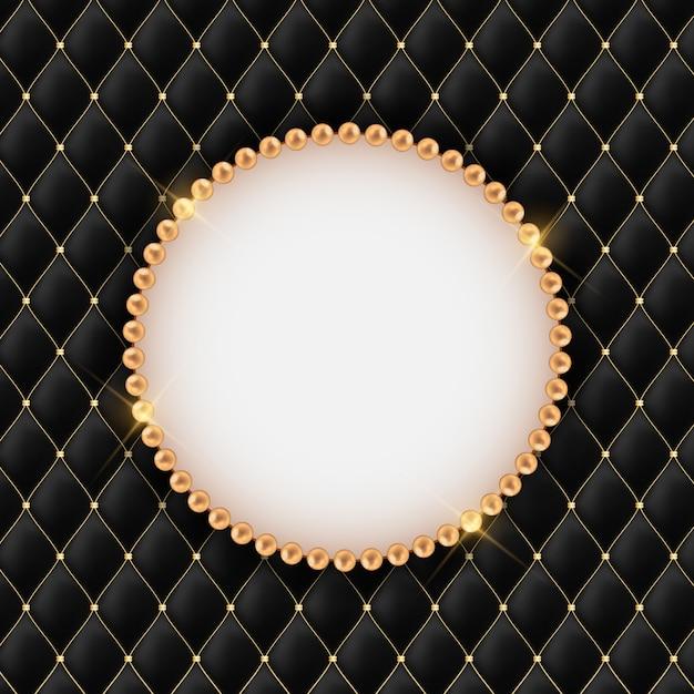 Beautuful astratto con cornice perla. Vettore Premium