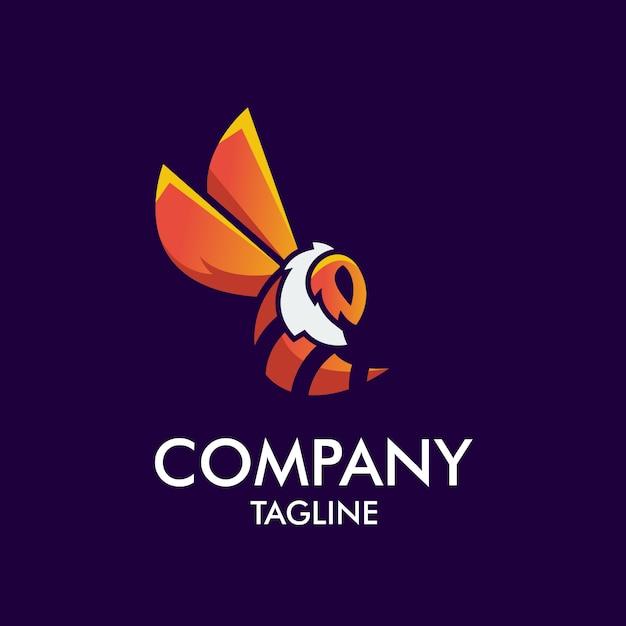 Bee mascot logo Vettore Premium
