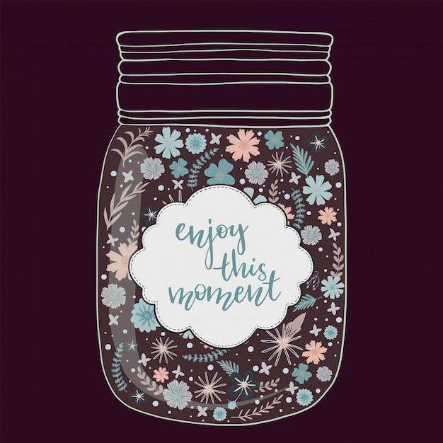 Bei fiori luminosi in un vaso Vettore Premium