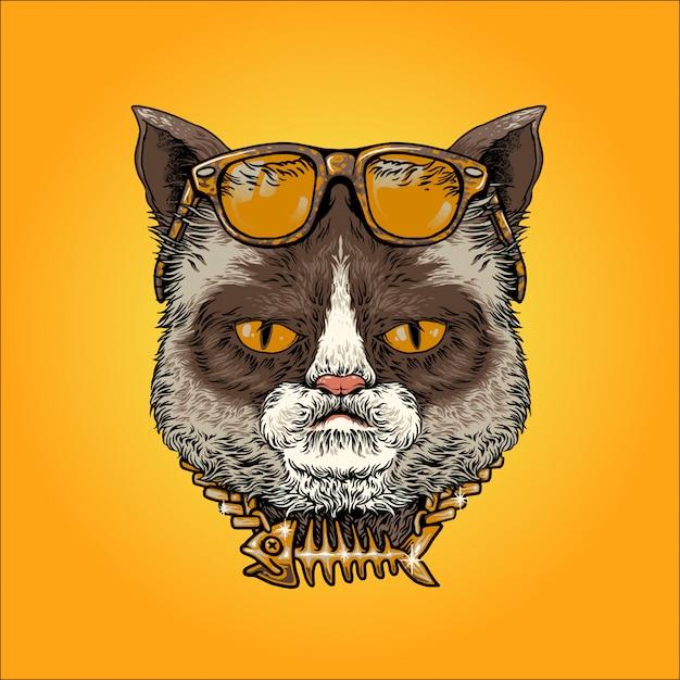 Bel gatto Vettore Premium