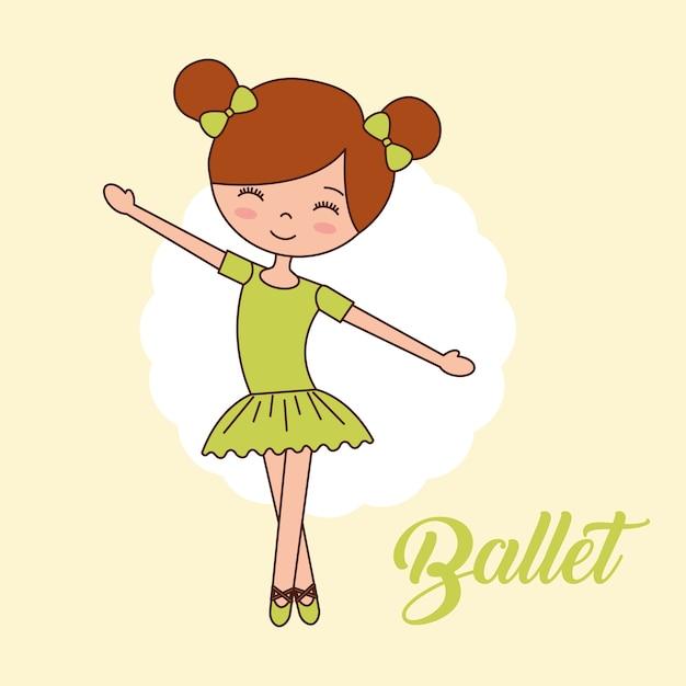 Bella ballerina Vettore Premium