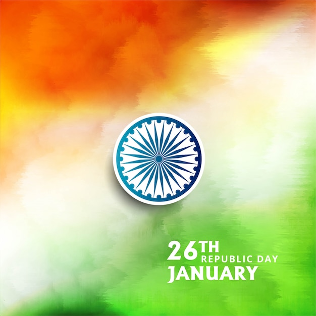 Bella bandiera indiana tema acquerello Vettore gratuito