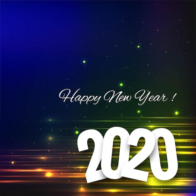 Bella carta del festival celebrazione del testo per il 2020 Vettore gratuito