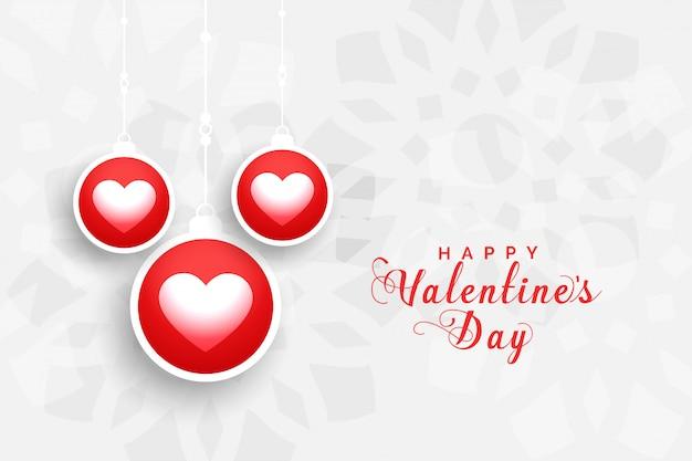 Bella cartolina d'auguri di san valentino Vettore gratuito