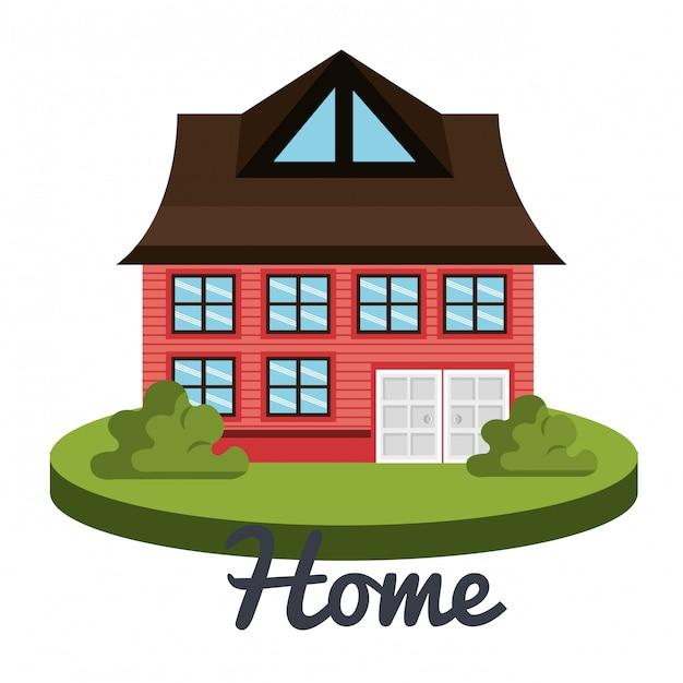 Bella casa Vettore gratuito