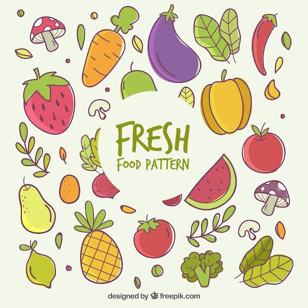 Bella composizione di alimenti biologici Vettore gratuito