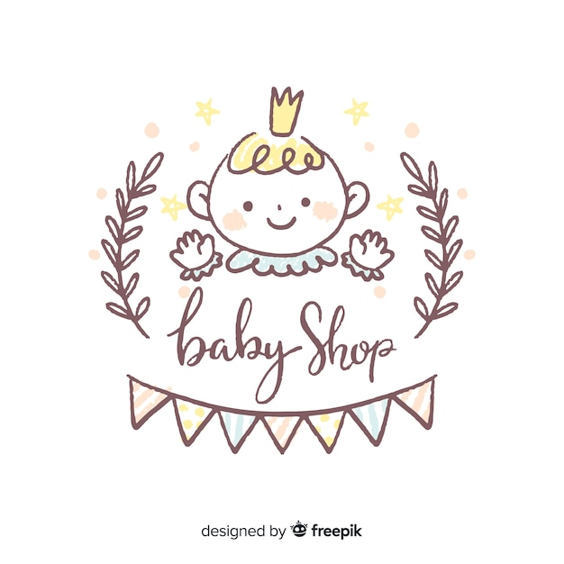Bella composizione per baby-shop Vettore gratuito