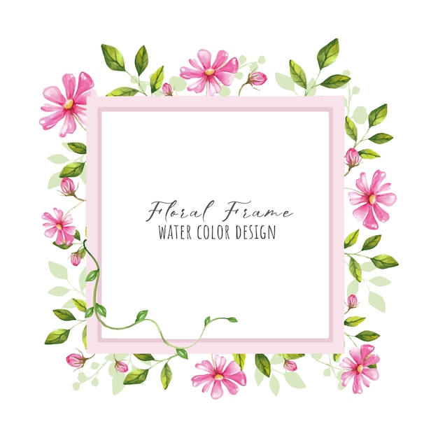 Bella cornice floreale Vettore Premium