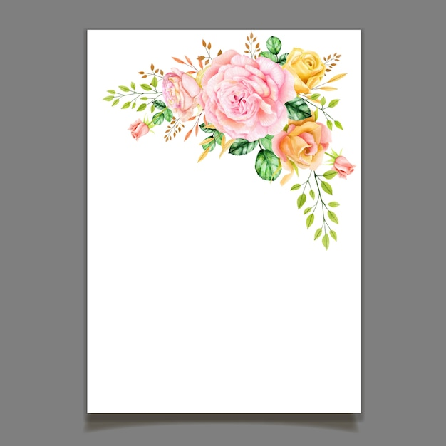 Bella corona di rose dell'acquerello Vettore Premium