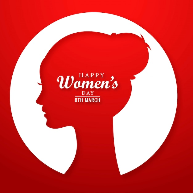 Bella giornata della donna 8 marzo sfondo cartolina d'auguri Vettore gratuito