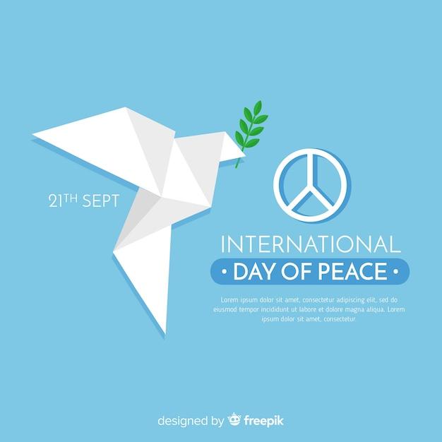 Bella giornata di pace sullo sfondo Vettore gratuito