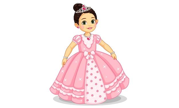 Bella piccola principessa Vettore Premium