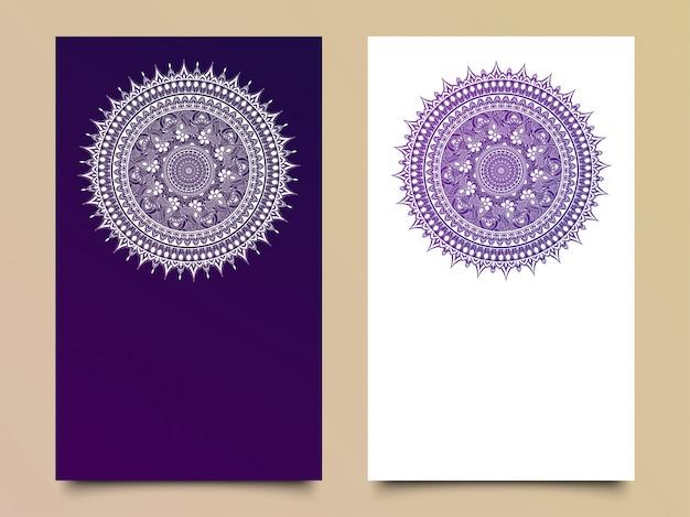 Belle carte invito floreale in due opzioni di colore. Vettore Premium