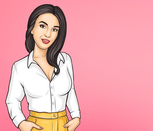 Bellezza delle donne, modello di poster pubblicitario di moda Vettore gratuito