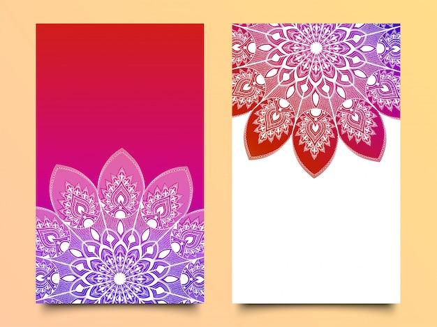 Bellissime carte invito floreale + Vettore Premium