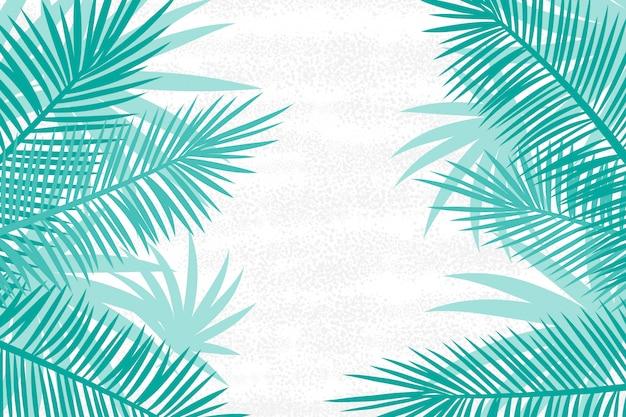 Bellissimo sfondo di foglie di palma. Vettore Premium