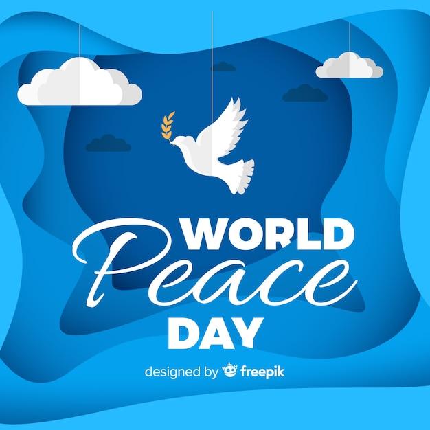 Bellissimo sfondo di giorno della pace Vettore gratuito