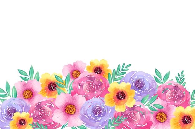 Bellissimo sfondo floreale ad acquerello Vettore gratuito